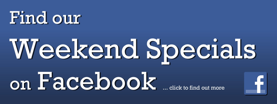 Weekend Specials on Facebook